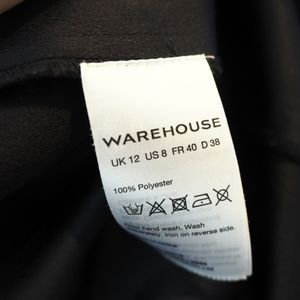 Warehouse Dresses - Warehouse shift color block placket dress